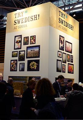 Bilder från Sverige på plats i Frankrike.